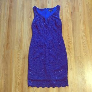 Women's Size 8 Cobalt Blue mini dress with sequins